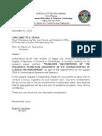 Survey Letter Manalotto