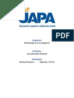 Unidad 1 - Marleny Plasencia - Metodologia de La Investigacion