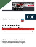 Profundos Cambios Demográficos en Chile - LA TERCERA