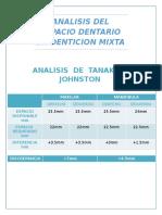 Analisis Del Espacio Dentario en Denticion Mixta Yeison