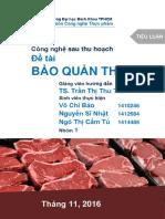 Công nghệ Sau thu hoạch - Thịt