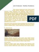 18 Jenis Jenis Tanah Di Indonesia