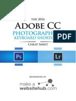 Adobe Cc Cheat Sheet for Photographers 2016 A4 PRINT