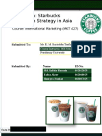 Starbucks Expansion Strategy in Asia
