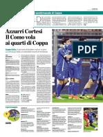 La Provincia Di Como 17-11-2016 - Calcio Lega Pro - Pag.1