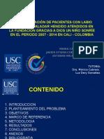 Presentacion Final LFPHCaracterización de paciente con labio figurado y paladar hendido en la Cali