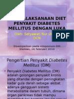 Penatalaksanaan Diet Penyakit Diabetes Mellitus Dengan Luka