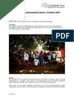Cap Ternay Achievement Report October 2016