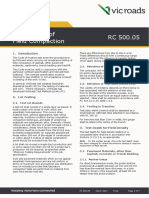 Code of Practice RC 50005 Acceptance of Field Compaction