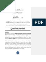 Commentary of Qasidah Burdah Part - 1 (Introduction)