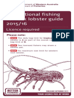 Recreational fishing for rock lobster guide 2015/16