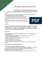 Herramientas CASE (Computer Aided Software Engineering).