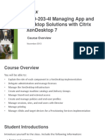 Course Overview Cxd 203 4i