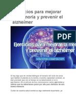 Ejercicios Para Mejorar La Memoria y Prevenir El Alzhéimer