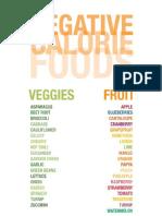 Negative Calorie Food List1