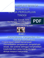 Keterampilan Bahasa Indonesia