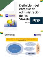 Enfoque de Administración Stakrholders