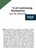 The Writ of Continuing Mandamus