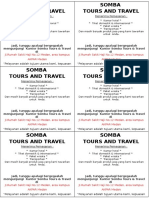 Brosur Somba Tours and Travel