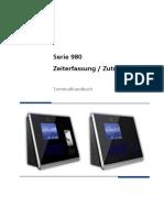 Benutzerhandbuch Serie 980