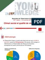 Cegos Baromètre Cegos 2016_Climat 15112016
