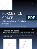 Engg Mechanics Non Coplanar Force System