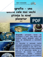 Geografia - una dintre cele mai vechi ştiinţe la nivel planetar