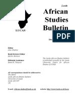 Africa Studies Bulletin No.69 December 2007