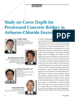 Study on Cover Depth for Prestressed Concrete Bridges in Airborne-Chloride Environments