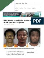 Minnesota Court Jails Leader of Islamic State Plot for 35 Years - BBC News