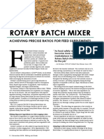 ROTARY BATCH MIXER - ACHIEVING PRECISE RATIOS FOR FEED SUPPLEMENTS