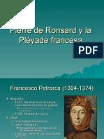 Pierre de Ronsard y La Pléyade Francesa