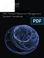 MSc HRM Student Handbook