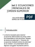 E.D. de orden superior - Solución con series de potencias.ppt