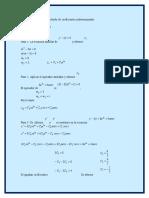 E.D. Coeficientes indeterminados - Método del anulador.docx