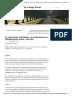 La Adjetivacion Profesional_ La Salida Teorica a La Fragmentacion Teoria – Practica