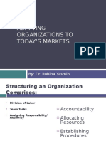 Adapting Organizations to Today's Markets