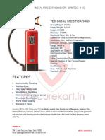 Features of Ceasefire-METAL-FIRE-Fire-Extinguisher - SPM TEC - 9 KG
