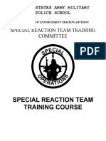 Special reaction team Army Student Handbook