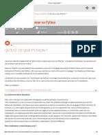 02_Qu'Est-ce Que Python