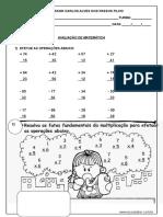 Avaliacao de Matematica 2º Ano CERTA