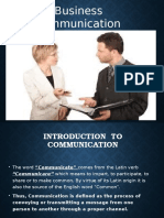 Chapter - 1 Business Communication
