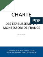 La charte des établissements Montessori de France