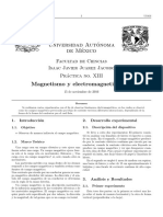 Practica de Campo magnetico, Electromagnetismo I