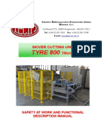 Skiver Cutting Unit TYRE 800 Truck - Santo Andre - Safety at Work and Functional Description Manual