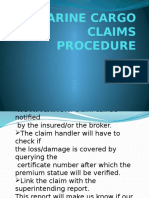 Marine Cargo Claims Procedure