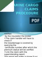 Marine Cargo Claims Procedure