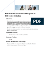 Port Bandwidth Control Settings on Sg 500 Series Switches
