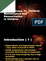 Fluid Therapy & Resuscitation i Children ( 2008 Nov )