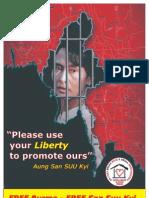 Il nostro poster per Aung San Suu Kyi e per il popolo di BURMA